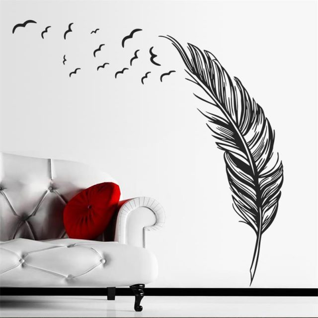Flying Feather Wall Sticker