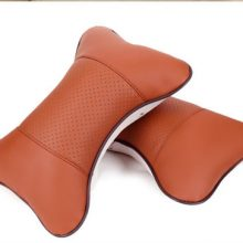PU leather Warm Car Seat Pillow