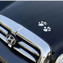 Dog Footprints Metal Stickers