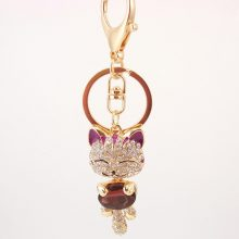 Crystal Cat Shape Keychain