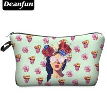 Makeup Bag with Multicolor Pattern