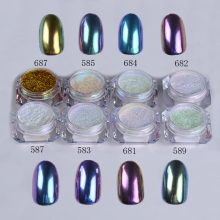 1g/Box Nail Chrome Pigment Mirror Glitter Shinning Powder Dust Gorgeous Nail Art Decorations